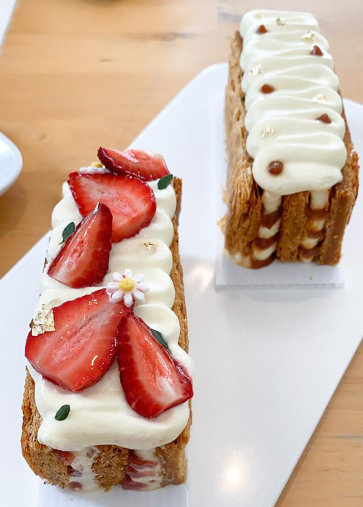 It's rare to get mille feuille and these ones are well-executed with the hand-laminated puff pastry layers.