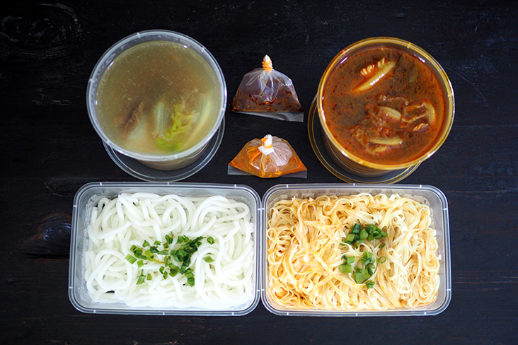 Since the broth is separated from the noodles, heat them up to enjoy it piping hot with the noodles