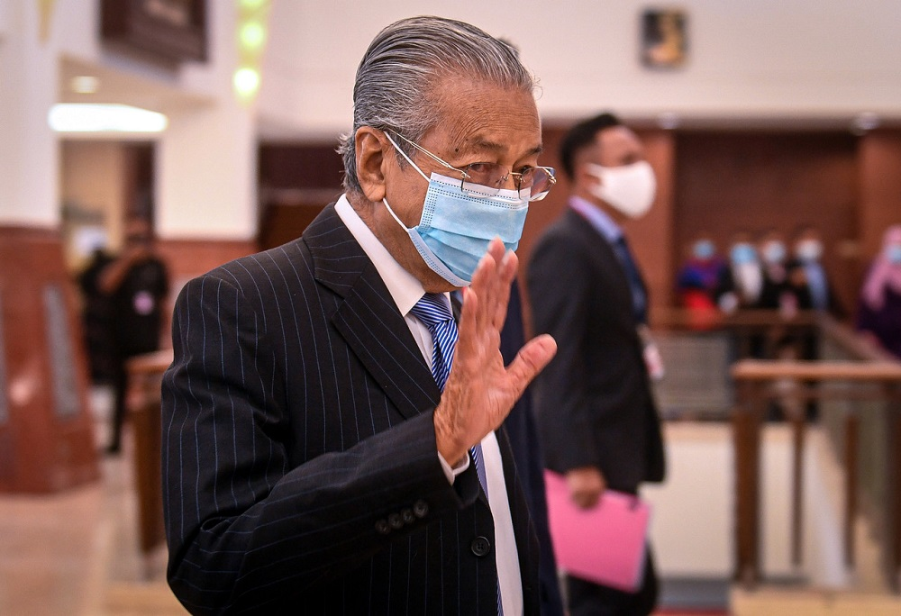 Tun Dr Mahathir Mohamad at the Parliament in Kuala Lumpur November 2, 2020. — Bernama pic