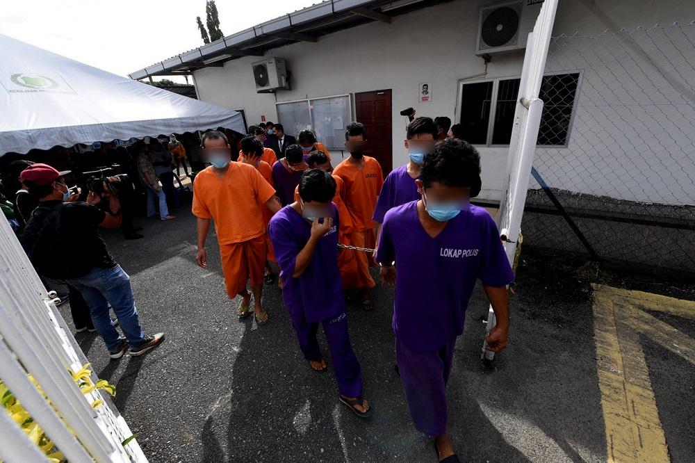 Perlis police chief Datuk Surina Saad said 23 suspects had completed their remand today. — Bernama pic