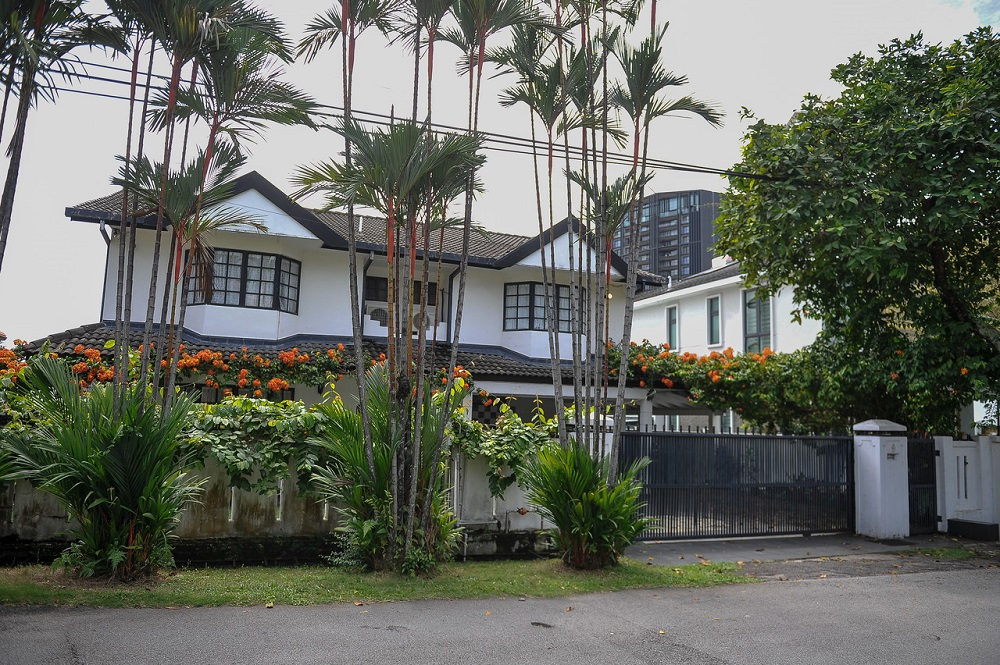 A view of the double-storey house where the robbery-cum-murder took place, in Bukit Bandaraya, Bangsar November 29, 2020. — Bernama pic