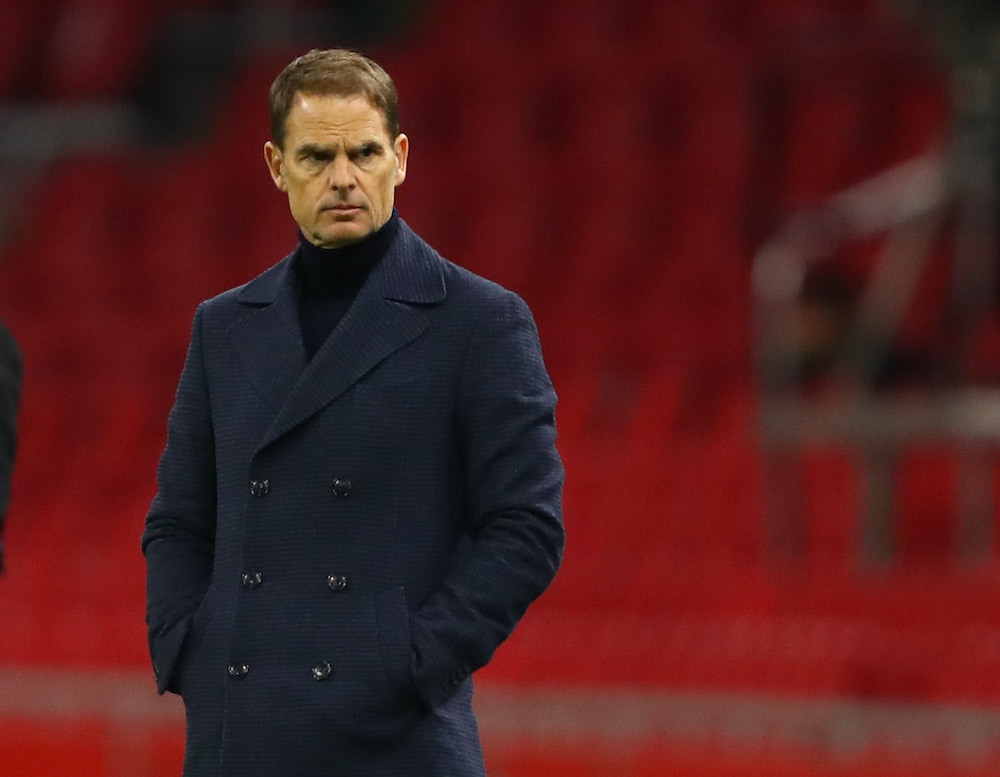 Netherlands coach Frank de Boer during the match against Spain at the Johan Cruijff Arena, Amsterdam, Netherlands, November 14, 2020. ― Reuters pic