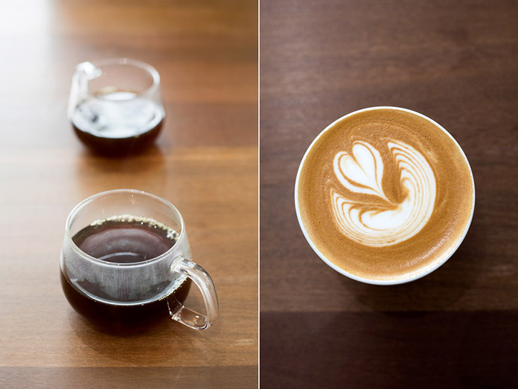 While more customers are opting for filter coffee (left), the bulk of Jln Theatre Coffee's coffee sales are still milk-based (right)