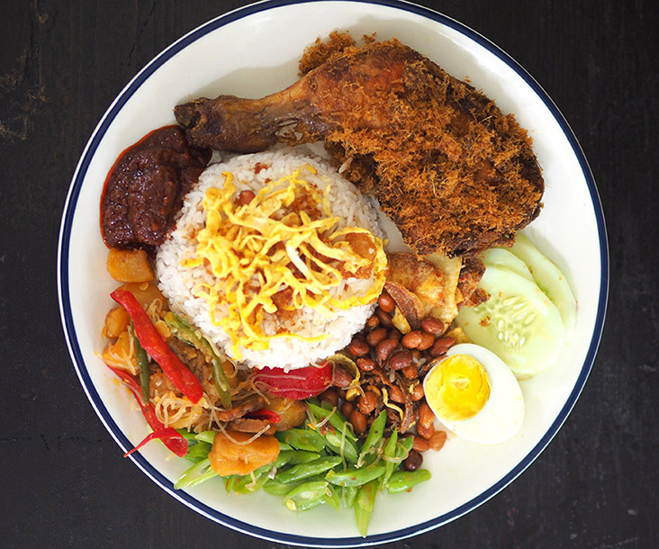 A colourful, delicious 'nasi lemak ayam goreng rempah' from Taste of Medan — Pictures by Lee Khang Yi