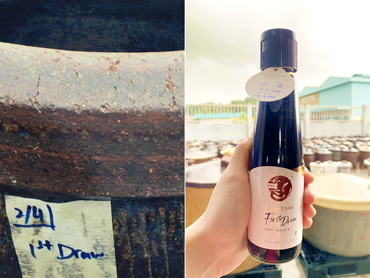 Mu Artisan's First Draw Soy Sauce contains only 100 per cent first extraction soy sauce that has been fermented in brewing urns for nine months.