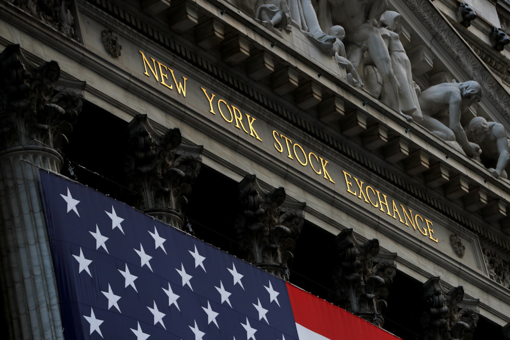 About 20 minutes into trading, the Dow Jones Industrial Average was up 0.4 per cent at 31,191.70. — Reuters pic