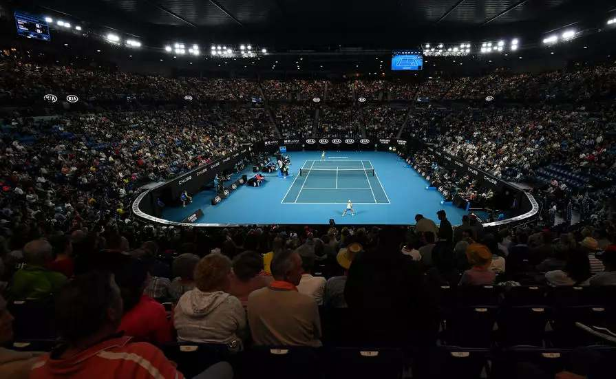 File photo of the Rod Laver Arena the centre court for the Australian Open in Melbourne. — AFP pic