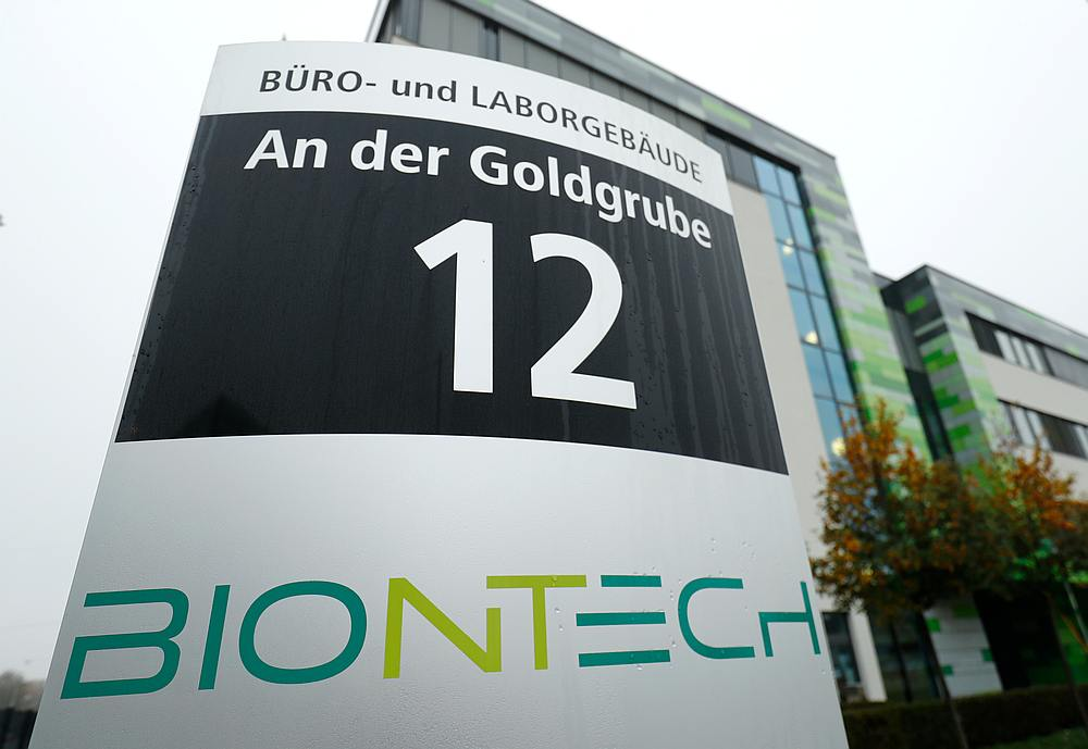 The headquarters of biopharmaceutical company BioNTech are seen in Mainz, Germany November 10, 2020. — Reuters pic