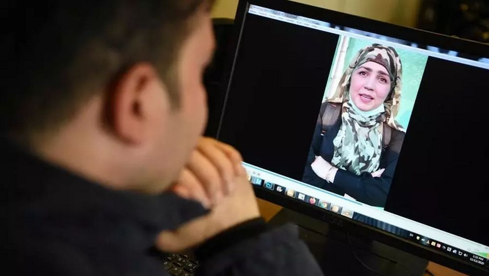 Muzghan (pictured in this confession video) and her aunt Nasreen walked free from jail in September after confessing to being members of the Taliban's ultra-violent Haqqani network. — AFP pic