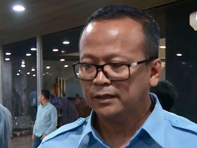 Indonesia's Minister for Maritime Affairs and Fisheries, Edhy Prabowo — YouTube video screengrab
