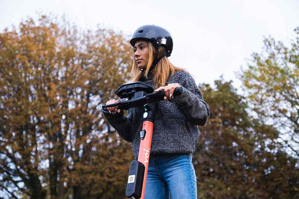 Installed on its e-scooters, Voi is testing Luna's technology to help avoid collisions with pedestrians.— Picture courtesy of Voi via AFP