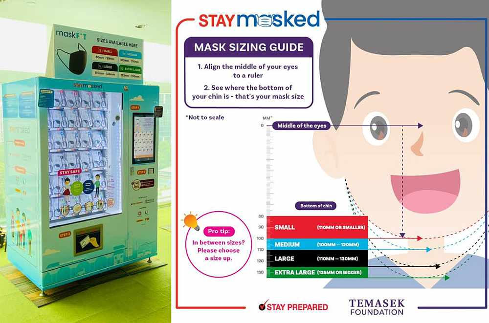 Collection and pre-orders for the reusable masks in Singapore starts on November 30 and ends December 13. — Temasek Foundation pic via TODAY