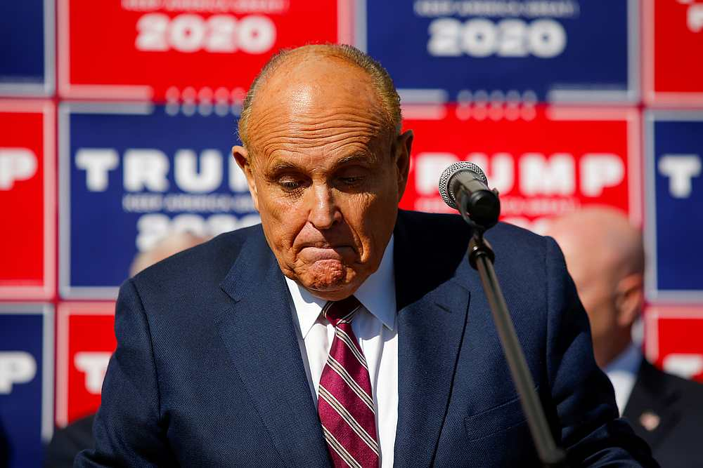 Rudy Giuliani (pic) said in a statement that Dominion's lawsuit was intended to intimidate others from exercising their free speech rights. — Reuters pic