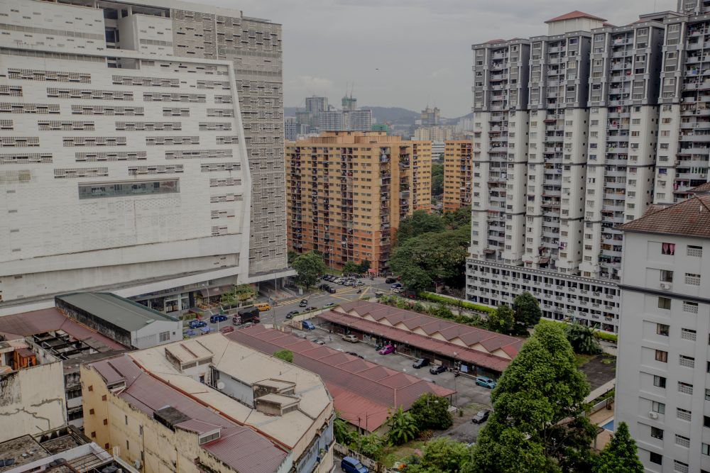 Residential and apartment buildings are pictured in Kuala Lumpur November 5, 2020. — Picture by Firdaus Latif