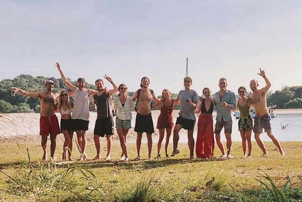A group of 12 went to Lazarus Island on the afternoon of Aug 8, 2020 despite knowing the legal limit for gatherings is five. — Facebook pic via TODAY