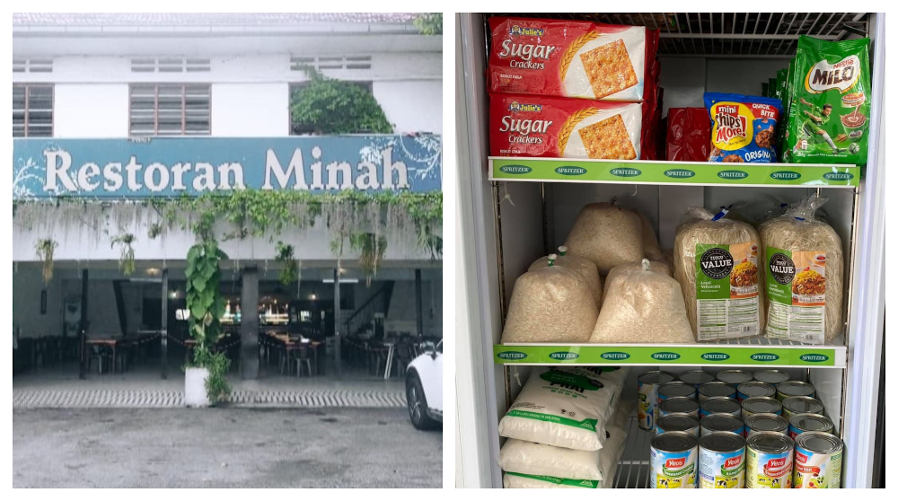 Restoran Minah has been helping feed the elderly, single mothers and disabled with its food bank corner. — Picture via Facebook/MinahRestaurant