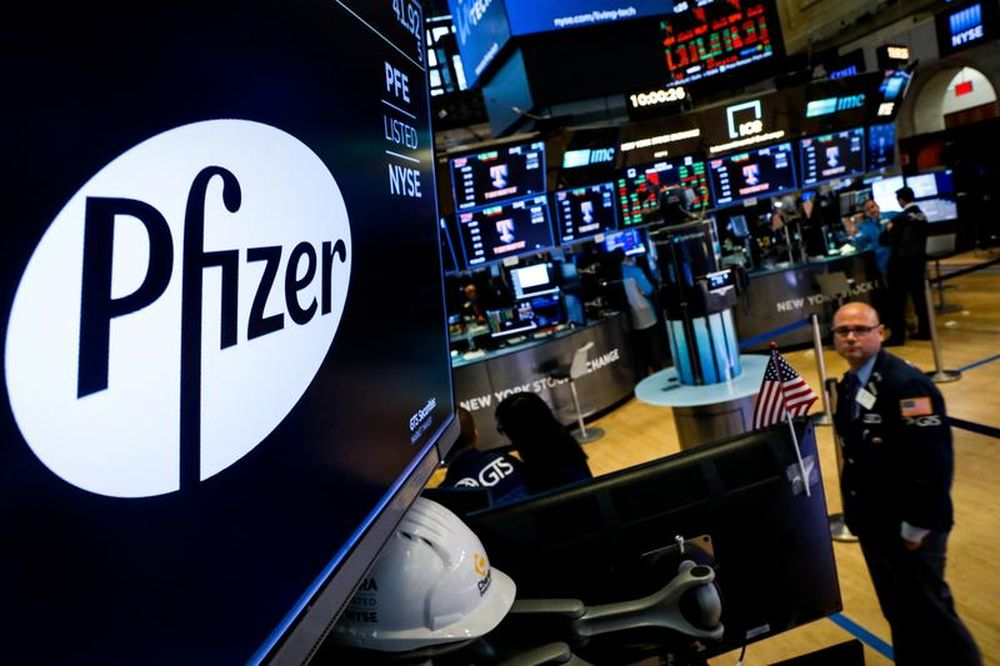 Pfizer reported a jump in first-quarter profits based on surging revenues, with nearly one-fourth of sales coming from Covid-19 vaccines. — Reuters pic