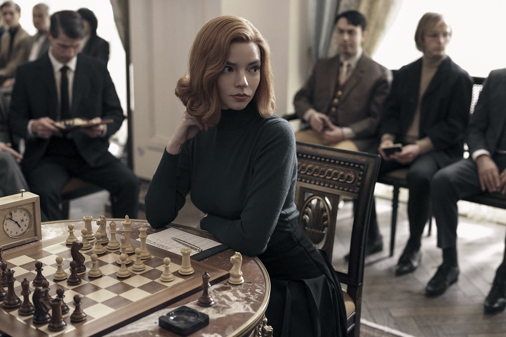 'The Queen's Gambit' follows the life of an orphan chess prodigy, Beth Harmon, played in the series by American-Argentine-British actress Anya Taylor-Joy. ― Picture via Twitter/DiscussingFilm