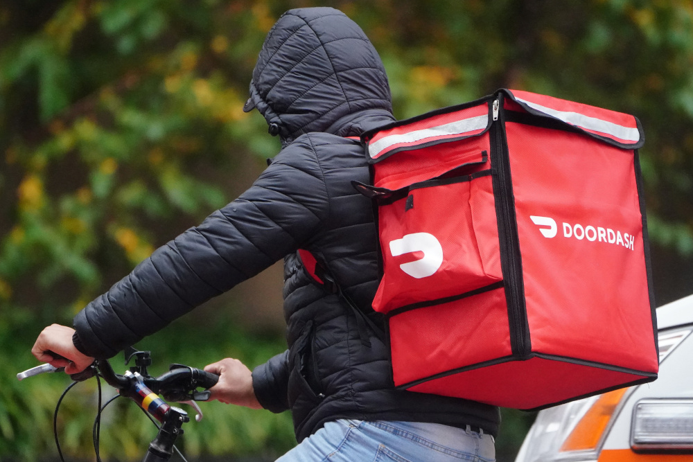 Doordash's lawsuit is the latest battle in a series of legal clashes between food delivery app companies and cities. — Reuters pic