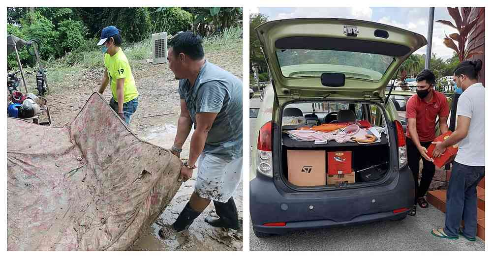 Some volunteers have gone the extra mile to help clean homes and purchase food items for those affected by the flash floods. — Pictures by Suresh Kumar Naidu
