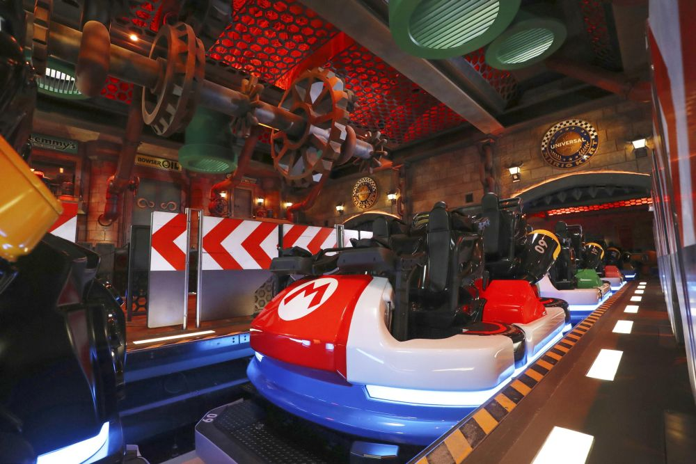 Mario Kart Station at Super Nintendo World, a new attraction area featuring the popular video game character Mario at the Universal Studios Japan theme park in Osaka November 30, 2020. — Reuters pic