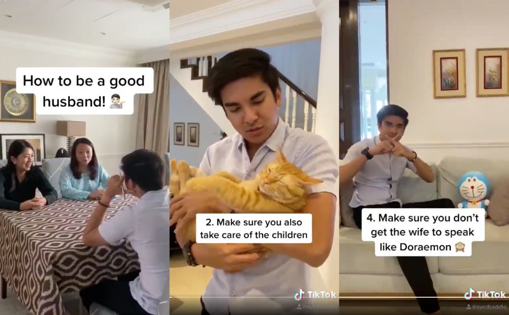 The TikTok clip also referenced a Doraemon-related gaffe made by the Women, Family and Community Development Ministry back in March. — Screengrabs via Instagram/SyedSaddiq