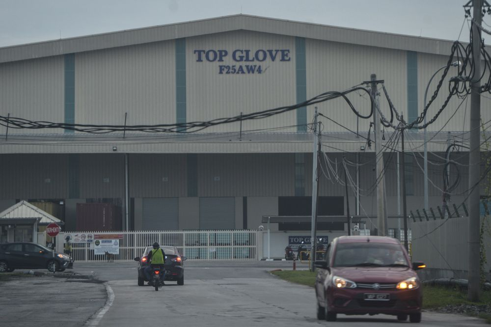 A general view of a Top Glove factory in Klang November 26, 2020. — Picture by Miera Zulyana