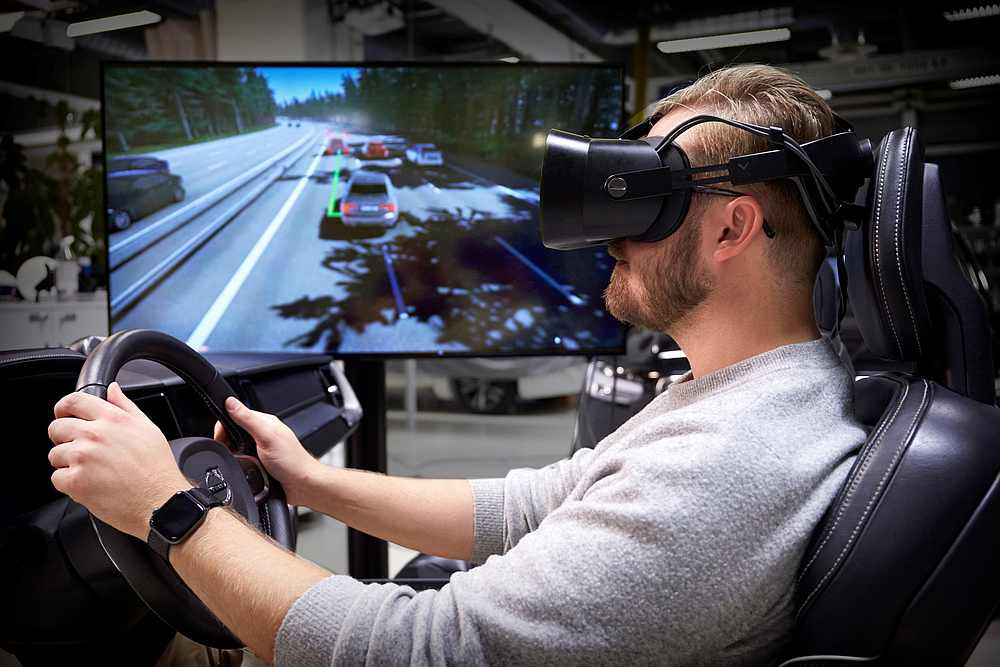 Volvo claims to have developed the 'ultimate driving simulator.' —— Picture courtesy of Volvo via AFP