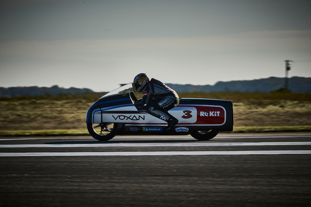 The Voxan Wattman, ridden by Max Biaggi, set a slew of speed records. — Picture courtesy of Venturi via AFP-Relaxnews