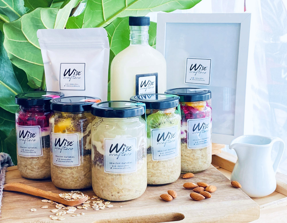 Wise Crafters has developed a diverse line of healthy food products including oatmeal and plant milks. — Pictures courtesy of Wise Crafters