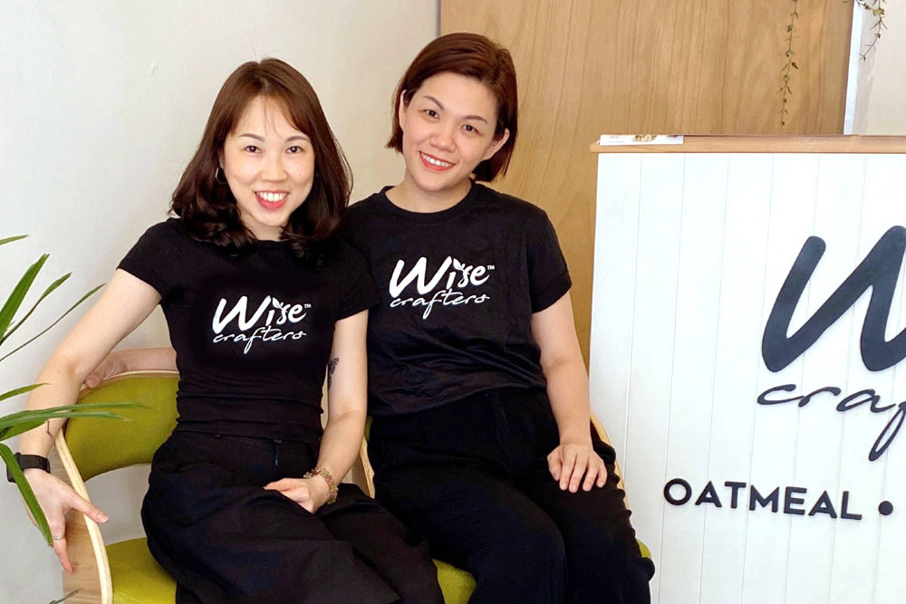 The team behind Wise Crafters: Samantha Ng (right) and Genie Hor (left).