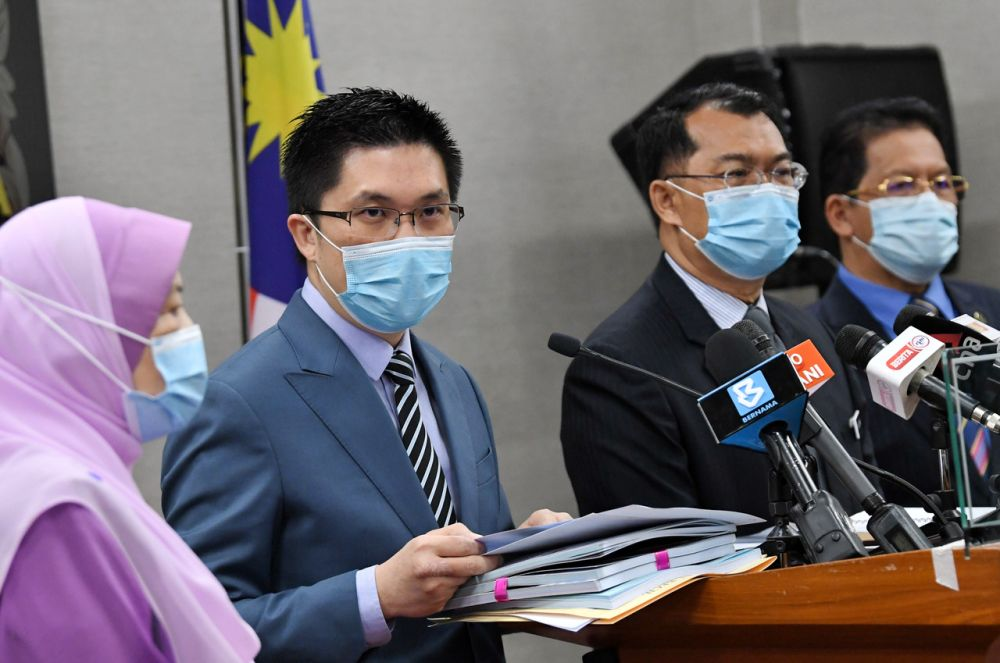 Public Accounts Committee chairman Wong Kah Woh speaks during a press conference at Parliament, Kuala Lumpur November 5, 2020. — Bernama pic