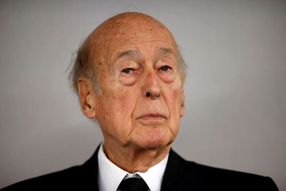Former French President Valery Giscard d'Estaing attends the World Nuclear Exhibition 2014 (WNE), the trade fair event for the global nuclear energy sector, in Le Bourget, near Paris October 14, 2014. — Reuters pic