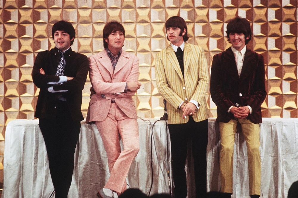The British band The Beatles, (from left) Paul McCartney, John Lennon, Ringo Starr and George Harrison, holding a press conference in Tokyo at the start of their tour, in this file photo taken on June 29, 1966. — AFP pic