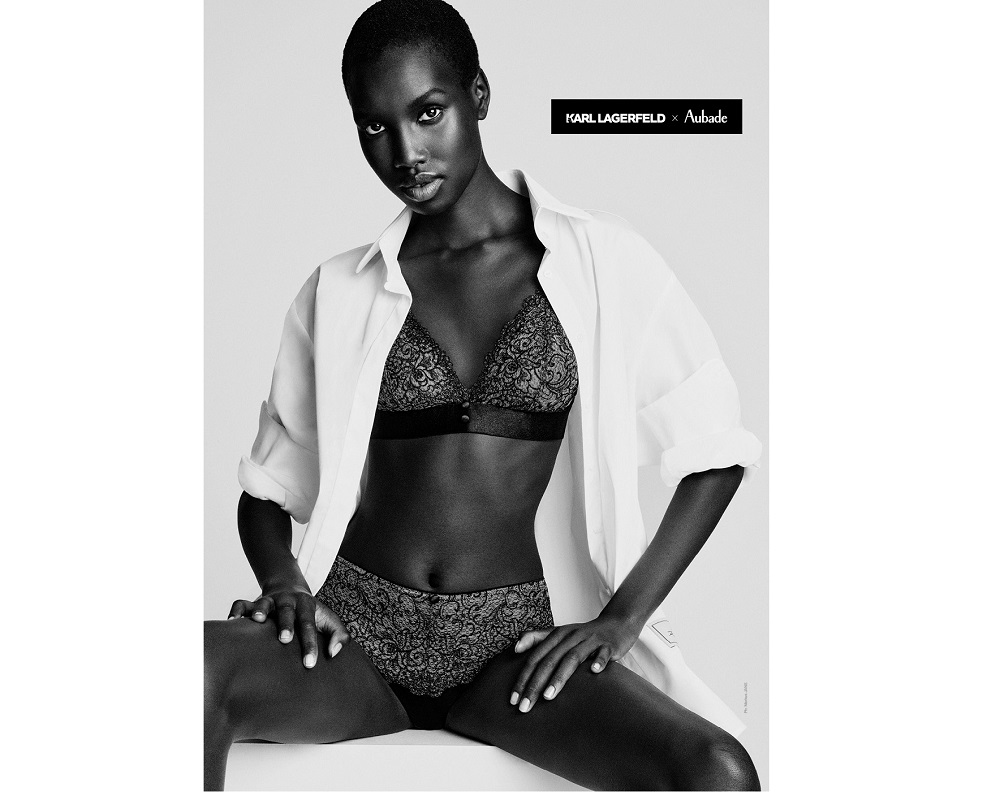 Karl Lagerfeld and Aubade Paris have announced the launch of an upcoming lingerie collection for fall/winter 2021. — Picture courtesy of Karl Lagerfeld x Aubade