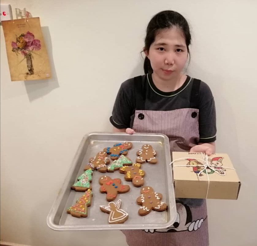 Autistic baker Looi Wan Keen sells her products via social media.  —  Picture by Sylvia Looi