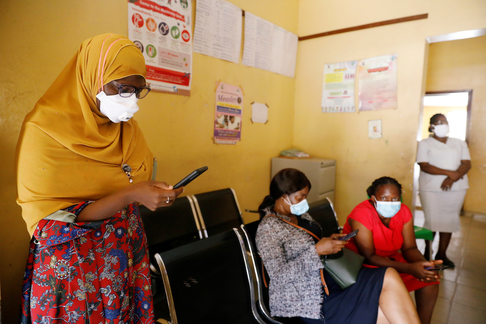 Members of the contact-tracing team are seen at the Primary Healthcare Centre, amid the spread of the coronavirus disease (Covid-19) in Lagos, Nigeria May 7, 2020. — Reuters pic