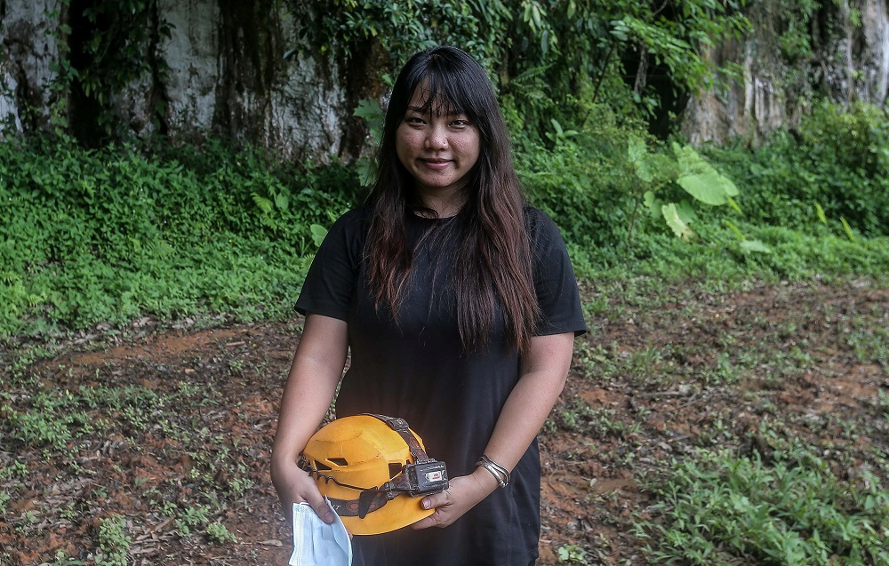 Lee Sok Yin said there is a feeling of excitement whenever she explores the caves. — Picture by Farhan Najib