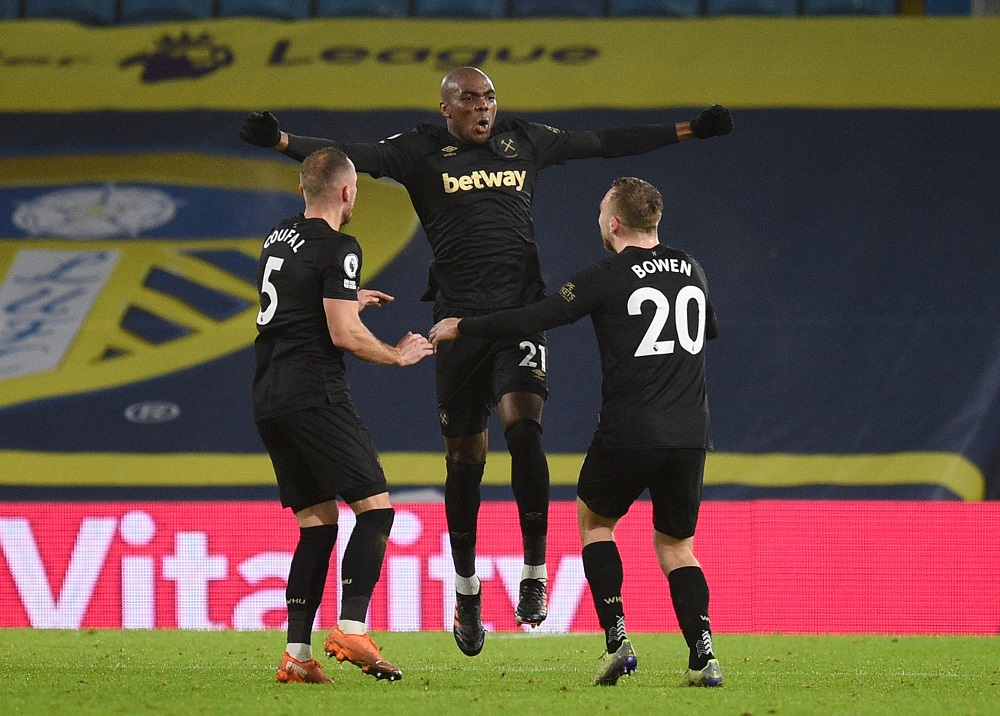 West Ham up to fifth with 2-1 win at Leeds