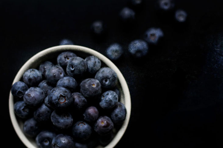 Instead of dried fruit, why not try some fresh ones like these blueberries?