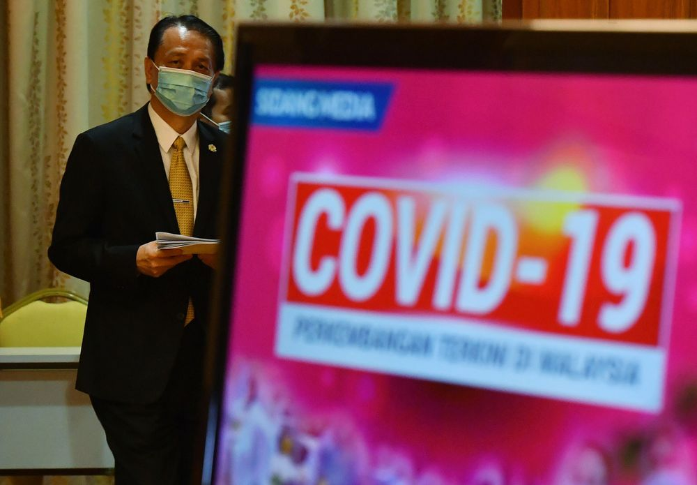 Health director-general Tan Sri Dr Noor Hisham Abdullah at a daily press conference related to Covid-19 infection at the Ministry of Health December 23, 2020. — Bernama pic