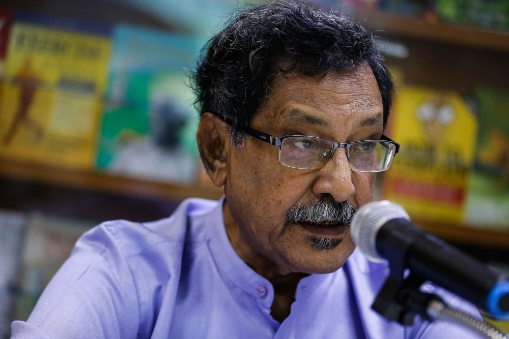 CAP president Mohideen Abdul Kader (pic) and Sahabat Alam Malaysia president Meenakshi Raman said a group of fishermen are legally challenging the DoE's approval of the Environmental Impact Assessment for the project. — Picture by Sayuti Zainudin