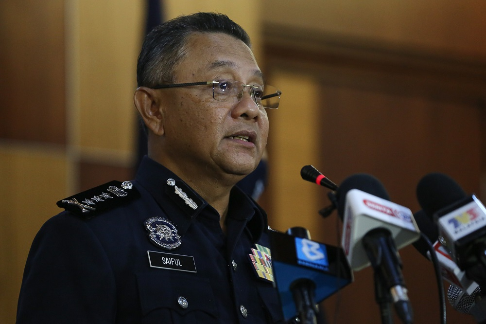 Kuala Lumpur police chief, Datuk Saiful Azly Kamaruddin said the police nabbed four men including a Thai national in a raid on January 26 before detaining a man who performed the role of snatcher two days later. ― Picture by Yusof Mat Isa