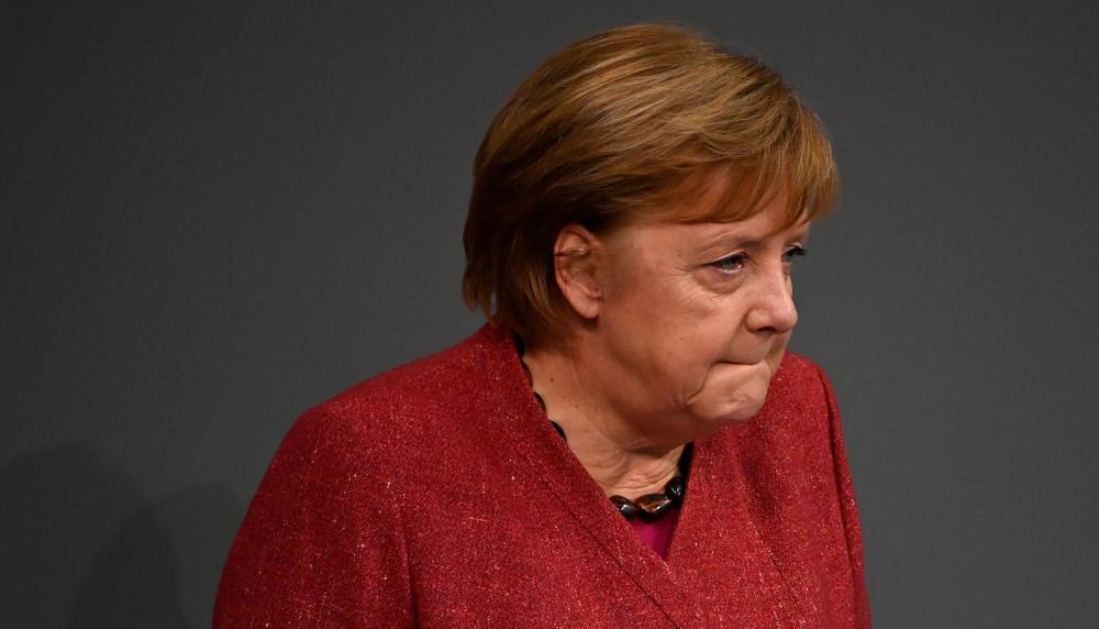 Bundeskanzlerin Angela Merkel spricht während einer Debatte im Bundestag am Vorabend eines EU-Gipfels am 9. Dezember 2020 in Berlin.  - AFP Bild