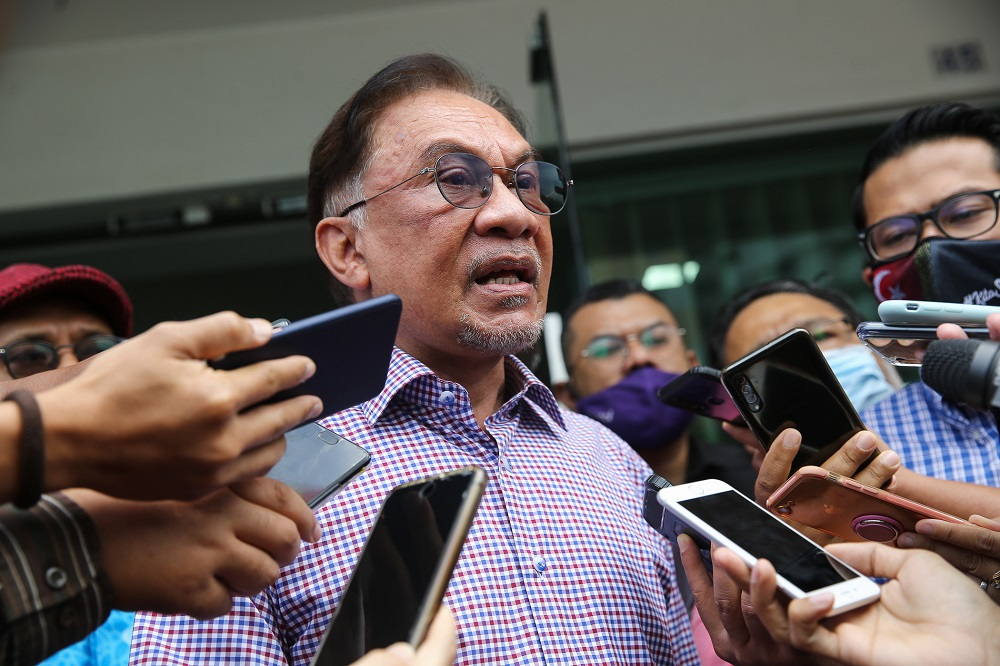 Calling the rejections unacceptable, Datuk Seri Anwar Ibrahim said the rights of association are enshrined within the Federal Constitution and should not be used by the government as a political tool to be abused. ― Picture by Yusof Mat Isa