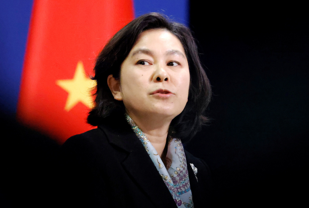 Foreign ministry spokeswoman Hua Chunying said the resolution showed that some MEPs had 'confused right and wrong' and engaged in 'gross interference in the affairs of China's Hong Kong'.  — Reuters pic