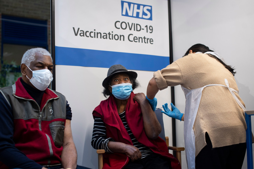 Supplies continue to be tight for the vaccine in the UK. — AFP pic