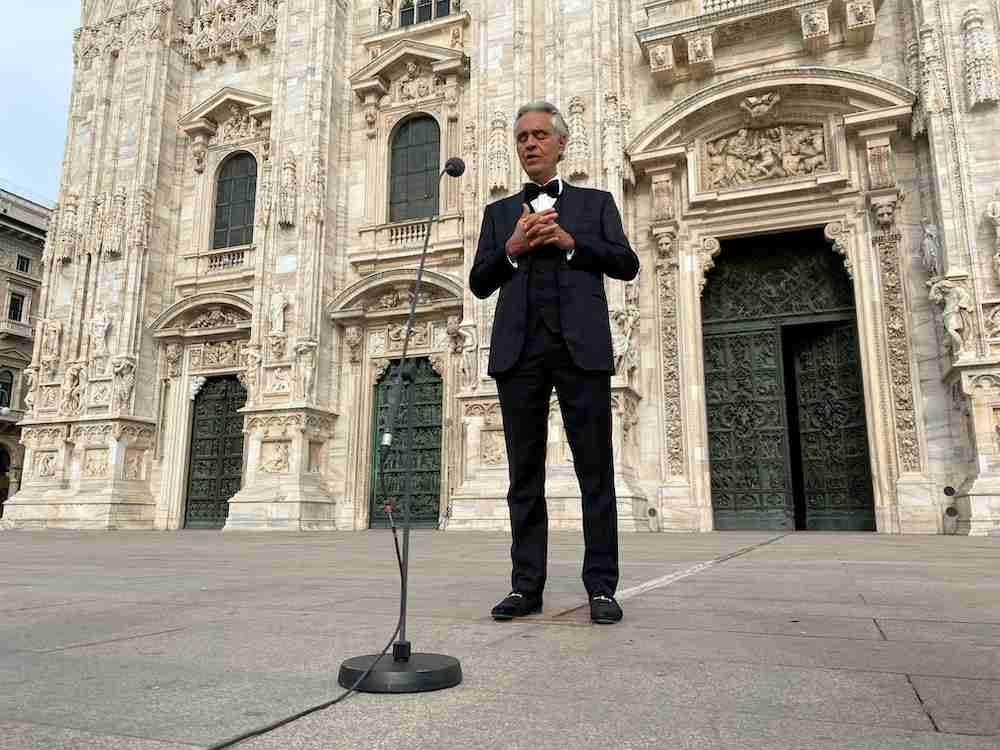 Andrea Bocelli raised spirits in Italy during the pandemic by singing alone in Milan's Duomo on April 12. — Reuters pic