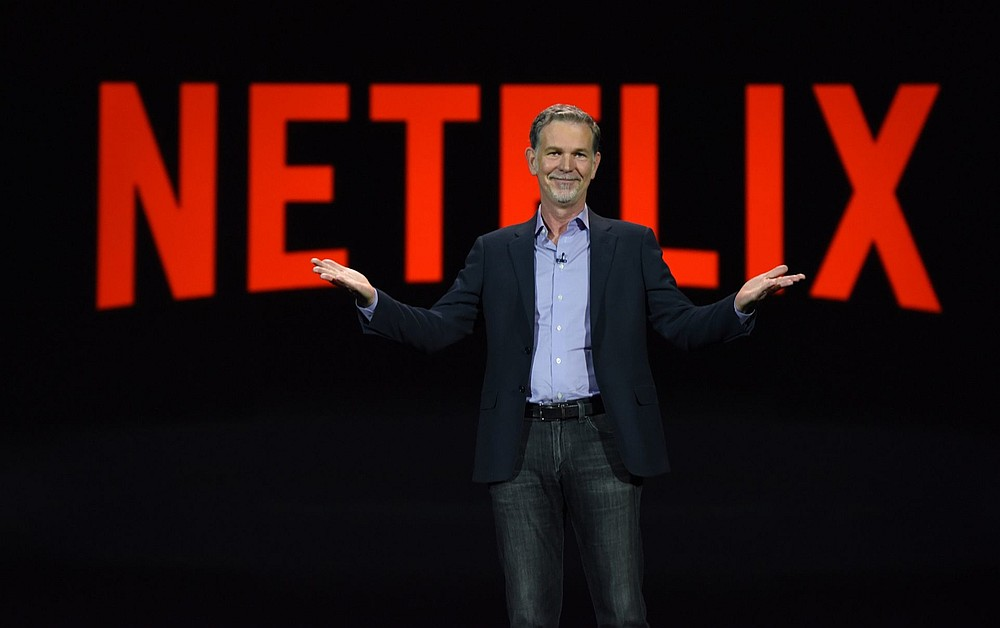 Netflix CEO Reed Hastings will receive US$34 million worth of stock options and a salary of US$650,000 in 2021. — AFP pic