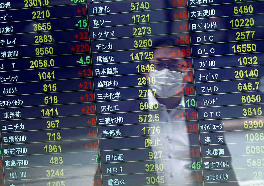 The benchmark Nikkei 225 index was up 0.86 per cent, or 246.13 points, to 28,769.39 in early trade, while the broader Topix index advanced 0.68 per cent, or 12.57 points, to 1,862.15. — Reuters pic